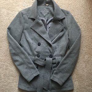Jou Jou grey pea coat